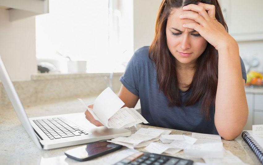 подсчет неоплаченных счетов за коммунальные услуги